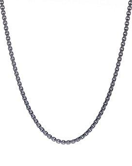 """David Yurman - Box Chain Necklace in Gray, 26"""""""