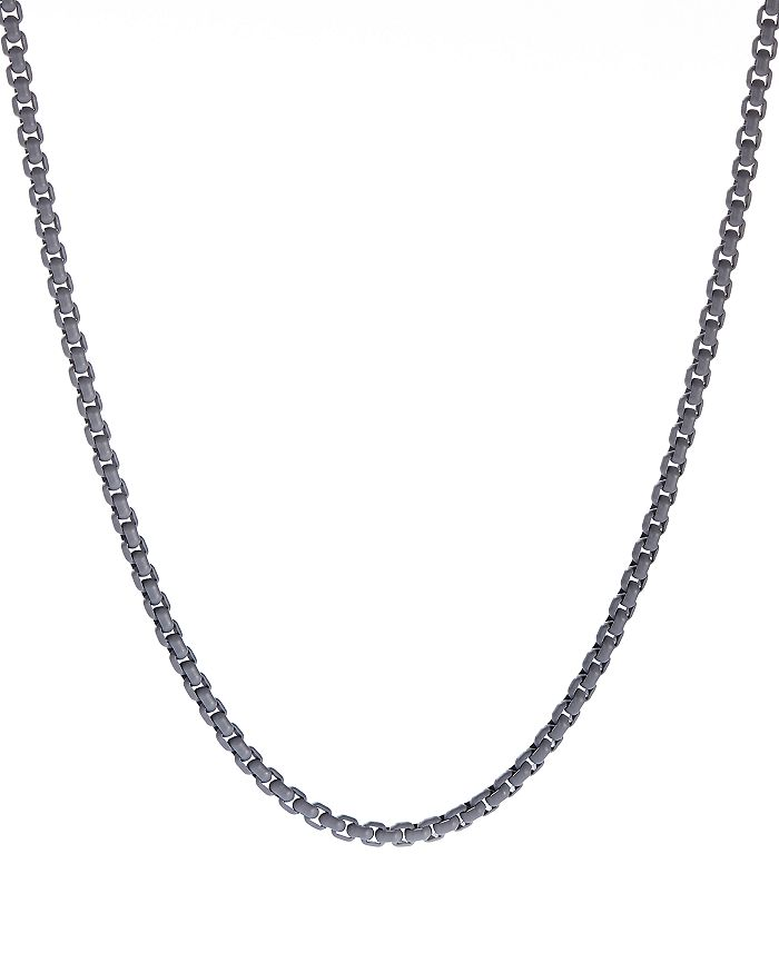 David Yurman - Box Chain Necklace in Gray, 26""