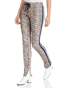 PAM & GELA - Snake Print Cigarette Track Pants