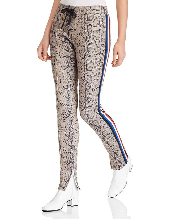 PAM & GELA - Animal-Print Cigarette Track Pants