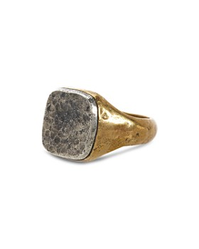John Varvatos Collection - Sterling Silver & Brass Signet Ring