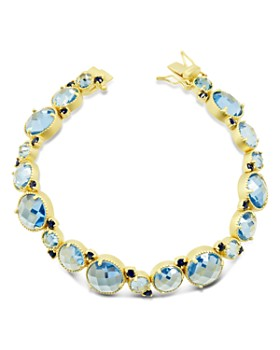 Freida Rothman - Imperial Blue Soft Bracelet in 14K Gold-Plated Sterling Silver
