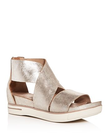 Eileen Fisher - Women's Crisscross Platform Sandals