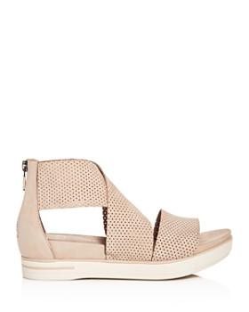 Eileen Fisher - Women's Perforated Crisscross Platform Sandals
