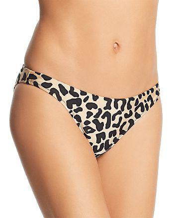 MILLY - Leopard Print St. Lucia Bikini Bottom