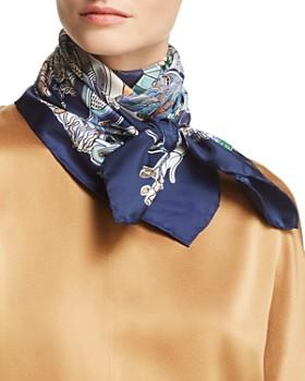 Salvatore Ferragamo - Boutiques Print Silk Scarf