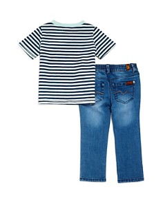 7 For All Mankind - Boys' Striped Pocket Tee & Jeans Set - Little Kid