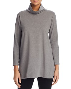 Eileen Fisher Petites - Funnel Neck Tunic Top