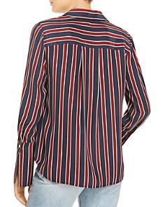 FRAME - Striped Silk Pajama Blouse