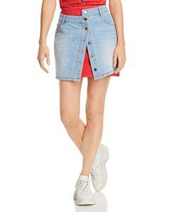 58582714879b KAREN MILLEN Glen Plaid A-Line Skirt   Bloomingdale's