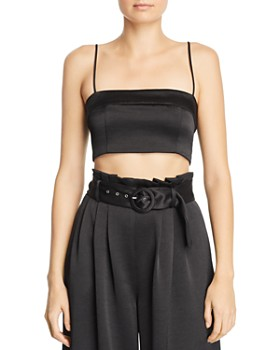 Bec & Bridge - Claudia Satin Cropped Top