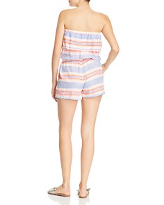 Lemlem - Fiesta Strapless Striped Romper