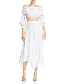 Charo Ruiz Ibiza - Lua Crochet-Lace-Trim Maxi Skirt