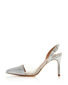 Charles David - Women's Daryl Leather & See-Through Slingback Pumps
