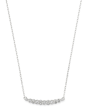 Bloomingdale's Diamond Bezel Bar Necklace in 14K White Gold, 0.25 ct. t.w. - 100% Exclusive