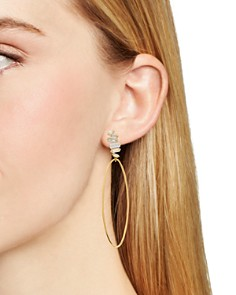 Gorjana - Amara Oval Hoop Drop Earrings