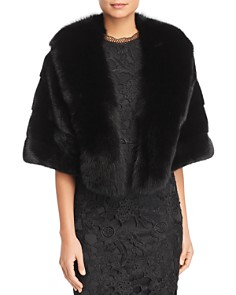 Maximilian Furs - Fox Fur Tuxedo & Mink Fur Cape - 100% Exclusive