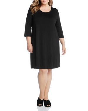 Karen Kane Plus Scoop Neck Tee Dress