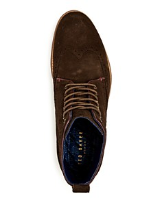 Ted Baker - Men's Shennjo Suede Brogue Wingtip Boots