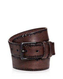 ALLSAINTS - Men's Embossed Leather Belt