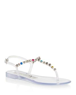 Sergio Rossi - Women's Borchie Studded T-Strap Sandals