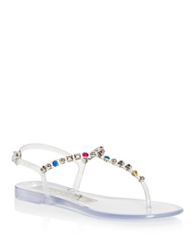 Sergio Rossi - Women's Borchie Studded T-Strap Sandals