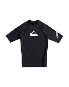 Quiksilver - Boys' All Time Short Sleeve UPF 50+ Rash Guard Top - Big Kid