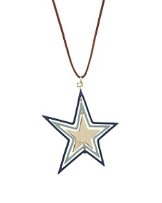 """Tory Burch - Spinning Star Pendant Necklace, 34"""""""