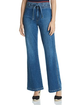 Joe's Jeans - High Rise Wide-Leg Jeans in Penny