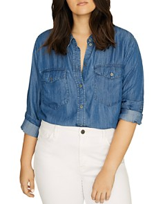 Sanctuary Curve - Boyfriend For Life Chambray Shirt