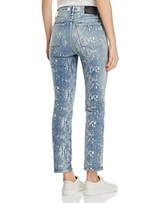 rag & bone/JEAN - Nina Ankle Cigarette Jeans in Worn Snake