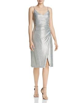 AQUA - Metallic Knit Dress - 100% Exclusive