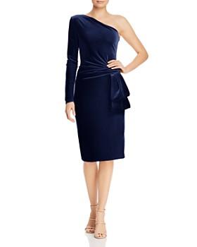 427ab97dbbb Black Halo - Karmina One-Shoulder Velvet Dress ...