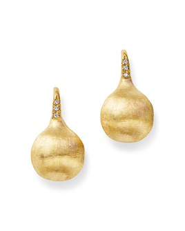 Marco Bicego - 18K Yellow Gold Africa Constellation Medium Diamond Drop Earrings