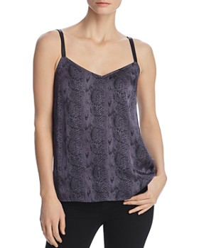 PAIGE - Cicely Snakeskin-Print Camisole Top