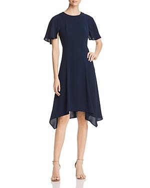 Donna Karan SHORT FLUTTER SLEEVE DRESS