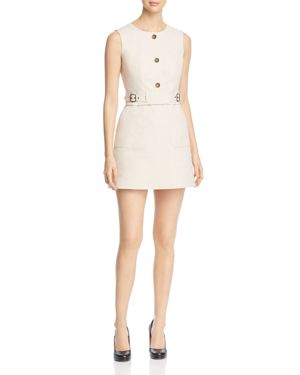 Paule Ka Panama Button-Front Mini Dress