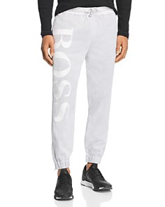 BOSS Hugo Boss - Salty Logo-Print Texture-Layered Sweatpants
