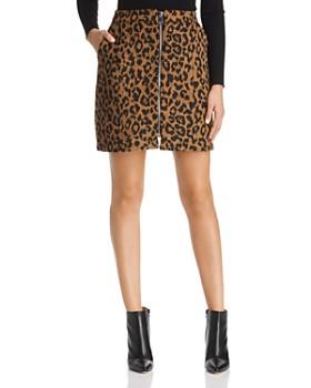 Vero Moda - Jana Leopard Zip Mini Skirt