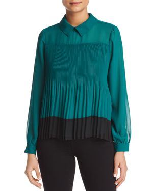 Vero Moda Lea Pleated Color-Block Blouse