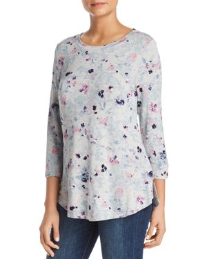 CUPIO Abstract Floral Tunic Top in Print