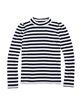 AQUA - Girls' Puff-Sleeve Striped Top - Big Kid - 100% Exclusive