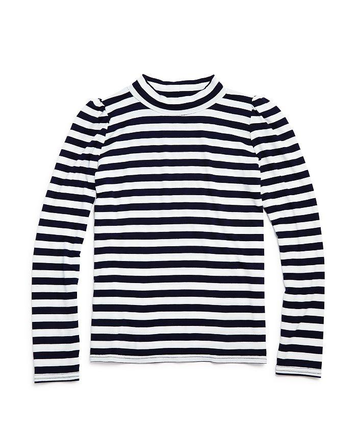 AQUA - Girls' Puff-Sleeve Striped Top - Big Kid - 100% Exclusive