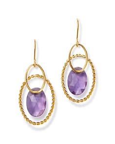 Bloomingdale's - Amethyst Oval Drop Earrings in 14K Yellow Gold - 100% Exclusive