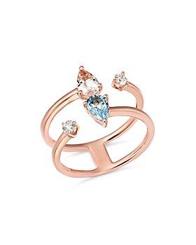 Bloomingdale's - Aquamarine, Morganite & Diamond Ring in 14K Rose Gold - 100% Exclusive