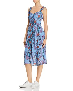 ASTR the Label - Floral Ruffle Midi Dress