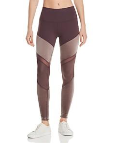 Alo Yoga - Sheila High-Rise Velour-Panel Leggings