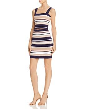 ceb07328a8a162 ... Bardot - Multi-Stripe Knit Crop Top