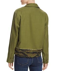 PAM & GELA - Snap-Front Camo-Trim Jacket