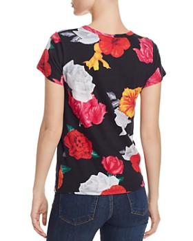 PAM & GELA - Blooms Distressed Floral-Print Tee - 100% Exclusive